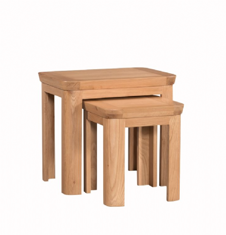 Treviso Oak Nest of Two Tables